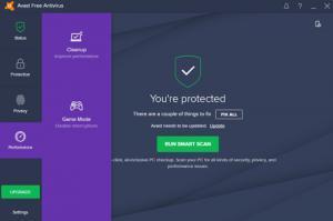 Avast Free Antivirus - Protected