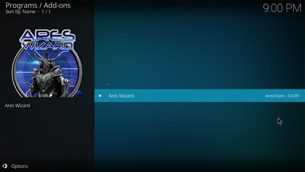 Ares Wizard for Kodi