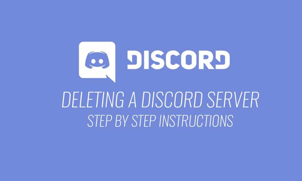 How to Delete Discord Server