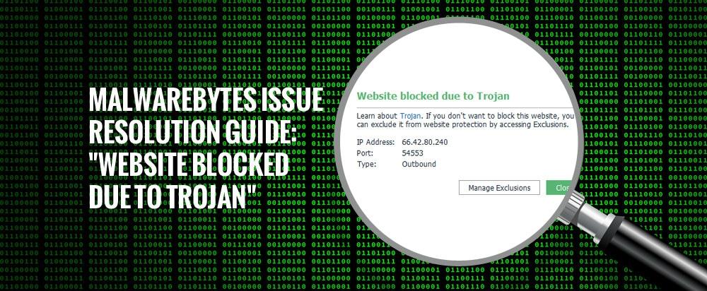 "Malwarebytes Issue Resolution Guide: ""Website blocked due to Trojan"""